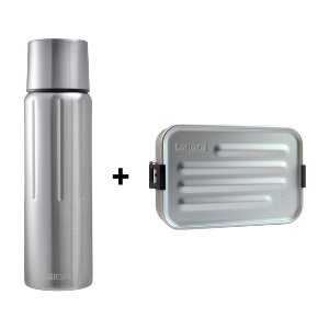 [SIGG] Gemstone Vacuum Bottle 750ml + Metal FoodBox Alu