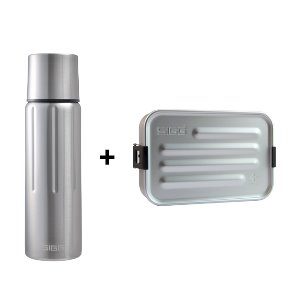 [SIGG] Gemstone Vacuum Bottle 500ml + Metal FoodBox Alu